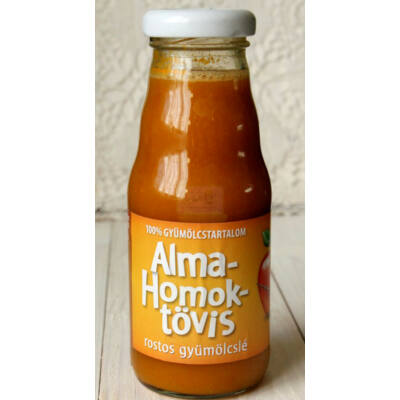 Alma-HOMOKTÖVIS 100%-os, rostos natúr gyümölcslé 2 dl