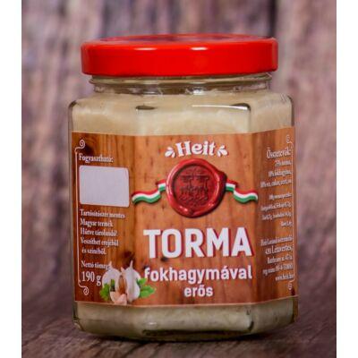 Hungaricum kézműves torma - FOKHAGYMÁVAL (erős) 190 g