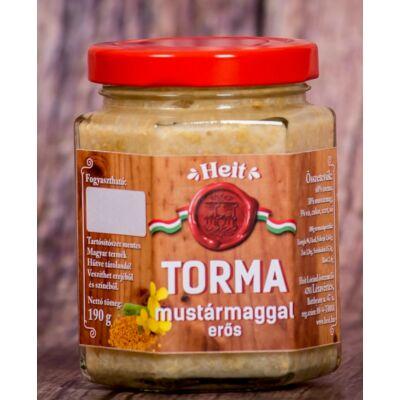 Hungaricum kézműves torma - MUSTÁRMAGGAL (erős) 190 g