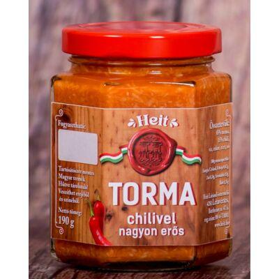 Hungaricum kézműves torma - CHILIVEL (nagyon erős) 190 g