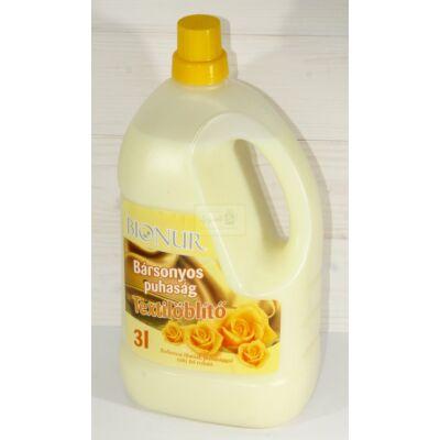 Bionur textilöblítő - Bársonyos puhaság 3 l