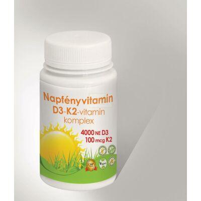 Napfényvitamin D3 - K2 komplex 30 db tabletta